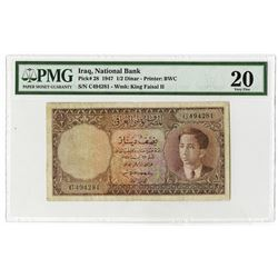 National Bank of Iraq. 1947. Issued Banknote.