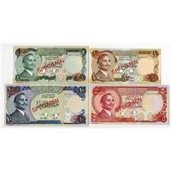 Central Bank of Jordan. ND (1975). Specimen Quartet.