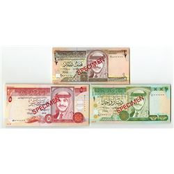 Central Bank of Jordan. 1993. Specimen Trio.