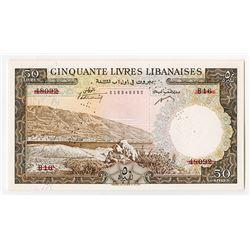 Banque de Syrie et du Liban. 1952. Specimen Banknote.