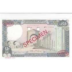 Banque du Liban. 1983. Specimen Banknote.