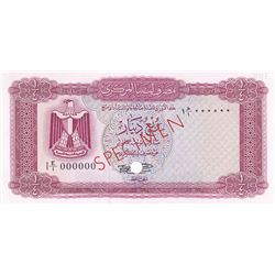 Central Bank of Libya. ND (1971-1972). Color Trial Specimen Banknote.