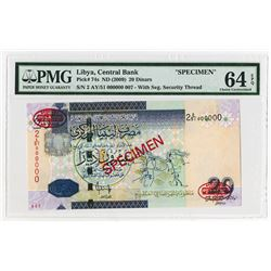 Central Bank of Libya. ND (2009). Specimen Banknote.