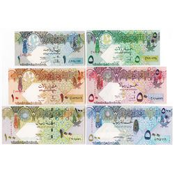 Qatar Central Bank. ND (2003-2007). Set of 6 Issued Banknotes.