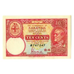 Government of Sarawak. 1940. Emergency Fractional Issue Banknote.