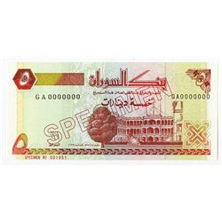 Bank of Sudan. 1993. Specimen Note.