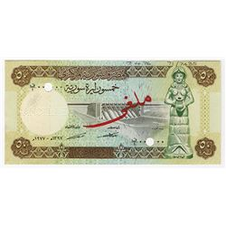 Central Bank of Syria. 1977 (1976). Specimen Note.