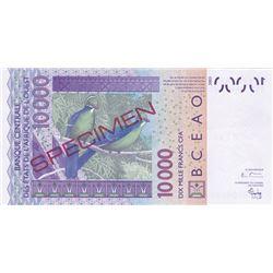 Banque Centrale des Etats de l'Afrique de l'Ouest. 2003. Specimen Banknote.