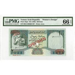 Central Bank of Yemen. ND (1996). Printer's Design.