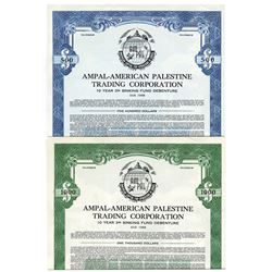 AMPAL - American Palestine Trading Corporation. 1948. Pair of Specimen Bonds.