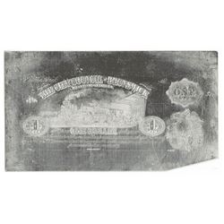 City Council of Brunswick. MD (1860's). Obsolete $1 Printing Plate + Matching Proof.