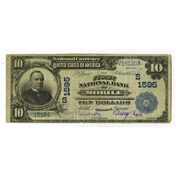 First National Bank of Mobile, 1902 DB, $10, CH#1595 S, Fr#62, Lyons | Treat Signatures