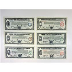 "MI. City of Hamtramck, 1933-1934 Depression Scrip Sextet, 5 with Lot Serial Number ""8""."