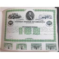 American Bond Detector Book, 1869 Counterfeit Detector Book with Proof Bonds.