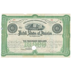 United States of America. Consol of 1867, per Acts of May 3, 1865 and April 12, 1866. $10000 6% Regi