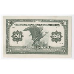 General Banknote Corporation, ND (ca.1910-20's) Proof Specimen Advertising Note.