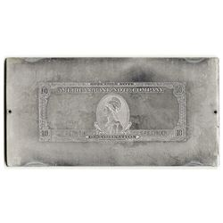 American Bank Note Co. 1929 (ca.1970's). Advertising Note Printing Plate.