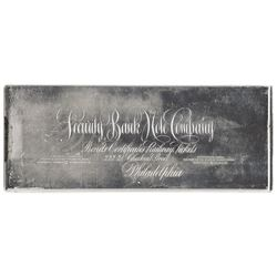 Security Bank Note Co. ND. Printing Plate for Advertising Piece.