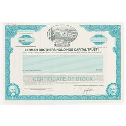 Lehman Brothers Holdings Capital Trust I, 1999 Specimen Stock Certificate.