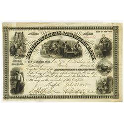 Manufacturers & Traders Bank, 1858 Issued Stock Certificate