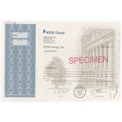 NYSE Group, Inc. Commemorative Stock Certificate Specimen for the 2006 Public Offering of the New Yo