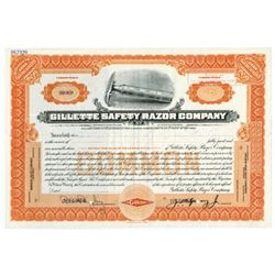 Gillette Safety Razor Co., ca.1920 Specimen Stock Certificate
