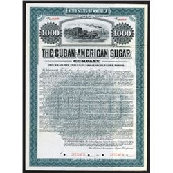 Cuban-American Sugar Co., Specimen Bond.