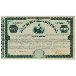 La Republica de Cuba, 1869 New York Issued Junta Bond.