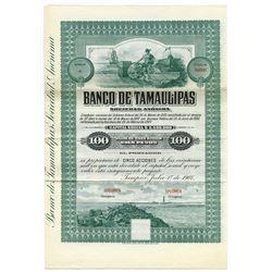 Banco De Tamaulipas S. A. Bond-Share Specimen.
