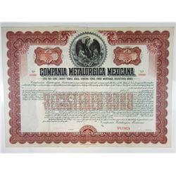 Compania Metalurgica Mexicana, 1901 Specimen Bond
