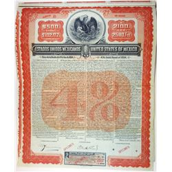 Estados Unidos De Mexico - United States of Mexico, 1904 Specimen Bond.