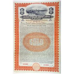 Mexican Petroleum Co. Ltd., of Delaware, 1921 Specimen Bond