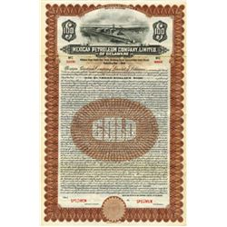 Mexican Petroleum Co., Ltd. of Delaware, 1921 Specimen Bond