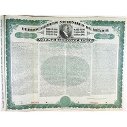National Railways of Mexico, 1907 Specimen Bond