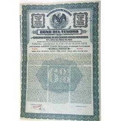 Republica Mexicana - Bono Del  Tesoro Del Gobierno Federal De Los Estados Unidos Mexicano, 1913 Spec