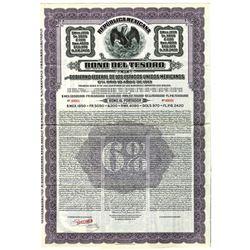 Republica Mexicana Bono Del Tesoro, 1913 Specimen Bond