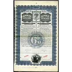 Republica Mexicana, H.Ayuntamiento De Cordoba - 1904 Republic of Mexico Specimen Bearer Bond