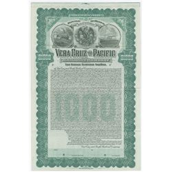 Vera Cruz and Pacific Railroad Co., 1904 Specimen Stock Certificate.
