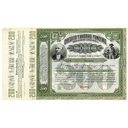 Credito y Ahorro Ponceno Sociedad Anonima 1897 Specimen Bond.