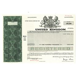 Government of the United Kingdom, 1978 Specimen Bond.