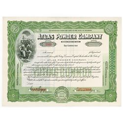 Atlas Powder Co., 1936 Specimen Stock Certificate