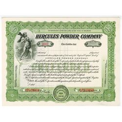 Hercules Powder Co., 1936 Specimen Stock Certificate