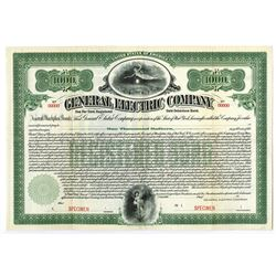 General Electric Company 1912 Specimen Bond.