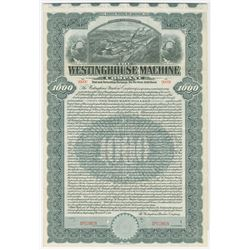 Westinghouse Machine Co., 1910 Specimen Bond