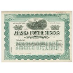 Alaska Power Mining Co., ca.1900-1910 Specimen Stock Certificate