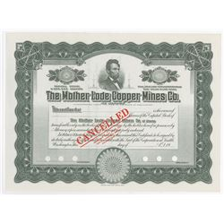 Mother Lode Copper Mines Co. of Alaska, 1910-1920 Specimen Stock Certificate