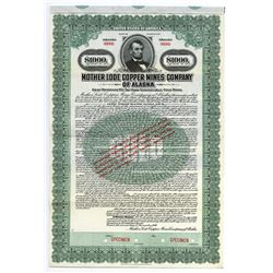 Mother Lode Copper Mines Co. of Alaska, 1916 Specimen Bond.