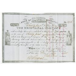 Erie Canal Company 1845 Bond.