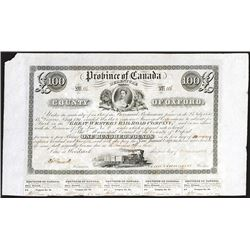 Great Western Railroad Co., 1851 Issued Bond.