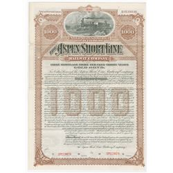 Aspen Short Line Railway Co., 1889 Specimen Bond